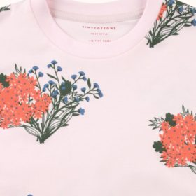 Tinycottons Flowers Tee Pink 2
