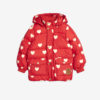 Mini Rodini Hearts Pico Puffer Jacket Red
