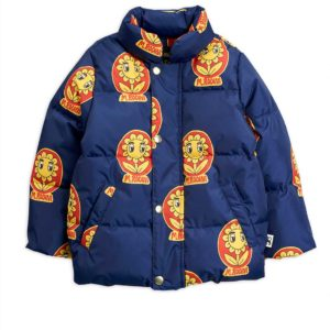 MR Flower Puffer Jacket Navy