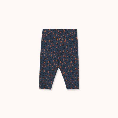 Animal Print Pant Light Navy/Dark Brown