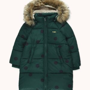 Big Dots Padded Jacket Dark Green/Black