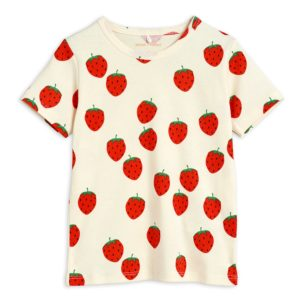 Strawberry AOP Short Sleeve Tee Offwhite