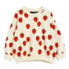 2122017111 1 Mini Rodini Strawberry Aop Sweatshirt Offwhite V1