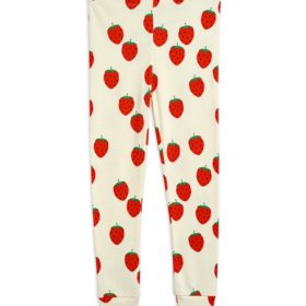 2123014111 1 Mini Rodini Strawberry Aop Leggings Offwhite V1