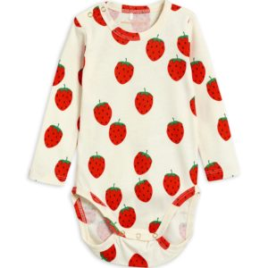 Strawberry AOP Long Sleeve Body Offwhite
