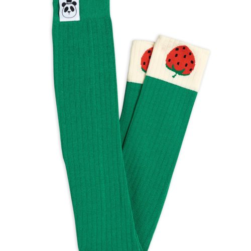 Ribbed Strawberry Leggings Green