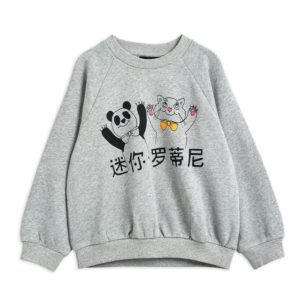 Cat And Panda SP Sweatshirt Grey Melange