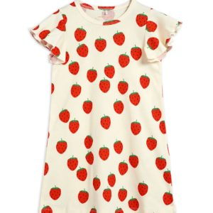 Strawberry AOP Wing Dress