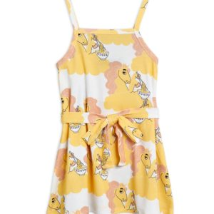 Unicorn Noodles Tank Dress Yellow